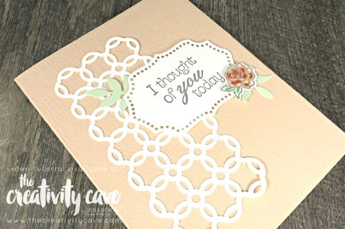 Check out my post featuring this card layout and tips for making cards quicker on my blog: www.thecreativitycave.com #stampinup #onlinecardclass #thecreativitycave #cardmaking #papercrafts #diy #climbingroses #stampinblends #subtleembossingfolder