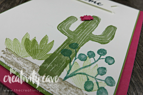Check out the video tutorial on my blog for this and 5 other cards featuring Stampin Up Products! #thecreativitycave #stampinup #occasionscatalog #fblive #handmade #cardmaking #rubberstamping #floweringdesert