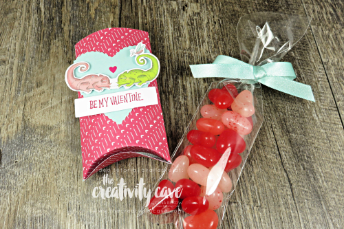 Check out the cute video tutorial I created for this card and a sweet treat holder on my blog featuring Stampin Up's Jan 2019 Paper Pumpkin Kit.  However card can be created with the Animal Outing Stamp set! www.thecreativitycave.com #stampinup #thecreativitycave #paperpumpkin #january #valentines #treatholder