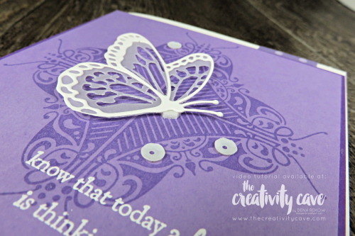Check out my blog with Video Tutorial on how to create this gorgeous background using your Stamparatus! Great tips and tricks included, plus a bunch more projects! www.thecreativitycave.com #stampinup #thecreativitycave #handmadegreetingcards #saleabration #framelits #beautyabounds #alladorned #partofmystory #stamparatus