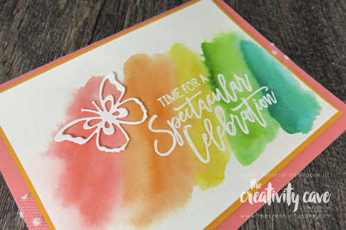 Check out the video and 5 fabulous cards that I created during my Facebook Live! at www.thecreativitycave.com #stampinup #thecreativitycave #bigshot #handmade #watercolor #butterflybeauty #birthdaycheer