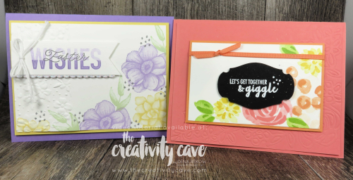 Check out my awesome video on how to create two gorgeous floral cards using fun spring color palettes with Stampin Up's Painted Seasons and Abstract Impressions on my blog at www.thecreativitycave.com  #stampinup #abstractimpressions #paintedseasons #partofmystory #storylabelpunch #embossingmats