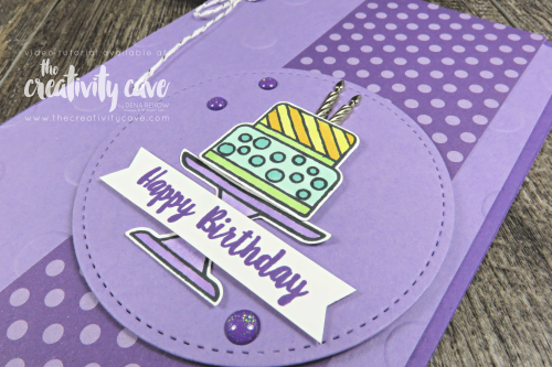 Great Video tutorial for my Simple to Stunning Series showcasing 3 cards that are simple, stepped up and stunning featuring the Piece of Cake Bundle from Stampin Up!  Don't miss my online class with this bundle, too! Details on my blog at www.thecreativitycave.com #stampinup #thecreativitycave #pieceofcake #birthdaycards #create #alcoholmarkers #stampinblends