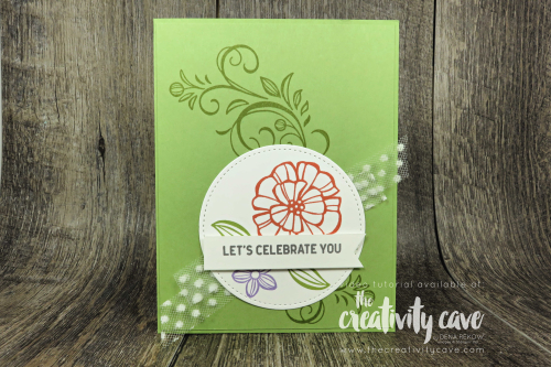 Simple to Stunning Sundays Video Series: Check out this week's awesome cards featuring Stampin Up's Falling Flowers Stamp Set and Large Letters Framelits on my blog at www.thecreativitycave.com #stampinup #thecreativitycave #simpletostunningsundays #largeletterframelits #fallingflowers