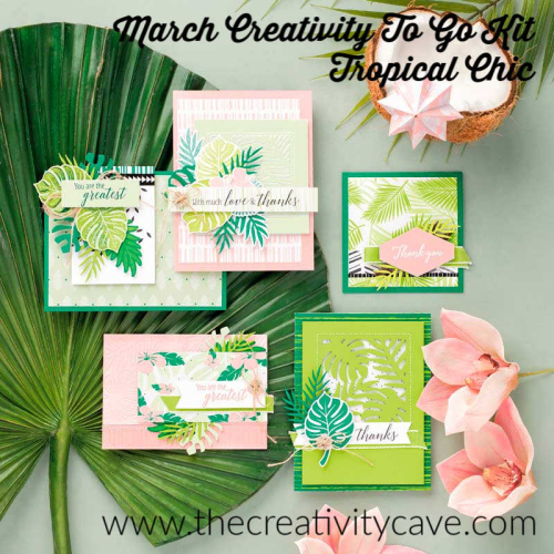 Tropical chic creativity to go