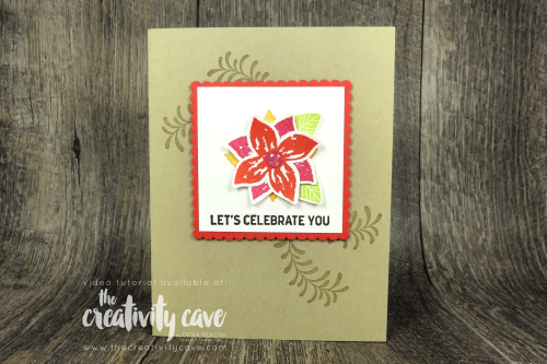 Simple to Stunning Sundays: Stepping Up Your Cards Volume 3 Video Tutorial Featuring Stampin Up's Pop of Petals Bundle, Itty Bitty Backgrounds and Subtle Embossing Folder on my blog at www.thecreativitycave.com #stampinup #thecreativitycave #simpletostunningsundays #popofpetals #bigshot #create #learntostamp #stepupyourcards
