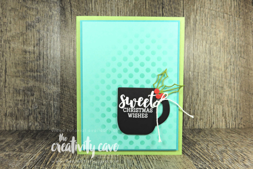 Check out the new video with 3 adorable cards I created using a cool sponging technique and new sets from Stampin Up's Holiday Catalog featuring the Spooktacular Bash, Gather Together and Cup of Christmas Stamp sets along with the Basic Pattern Decorative Masks on my blog at www.thecreativitycave.com #stampinup #holidaycatalog 2019 #spooktacularbash #cupofchristmas #gathertogether #sponging #stenciling #videotutorial #create