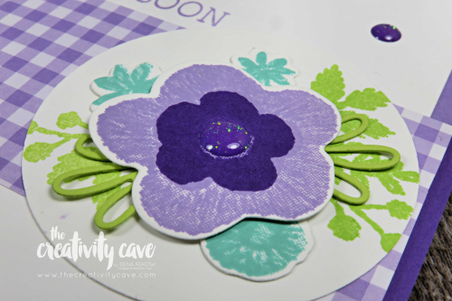 Video tutorial showcasing 2 adorable cards featuring printed papers, stampin up's Daisy Punch, Needle and Thread Bundle and more on my blog at www.thecreativitycave.com #stampinup #thecreativitycave #ginghamgaladsp #printedpaper #paperpunches