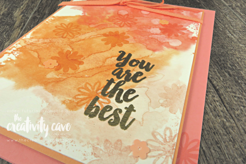 Check out the video for this and several other cards on my blog featuring Stampin Up's A BIg Thank You Bundle and a cool watercolor technique at www.thecreativitycave.com  #stampinup #thecreativitycave #abigthankyou #watercolor