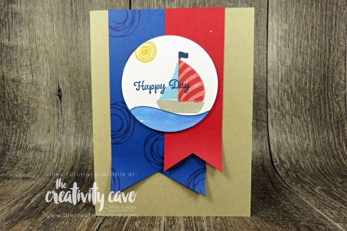 Check out the video for this and several other cards on my blog featuring Stampin Up's Swirly Bird and Itty Bitty Birthday Stamp Sets at www.thecreativitycave.com  #stampinup #thecreativitycave #swirlybird #mancard #triplebannerpunch #layeringcirclesframelits