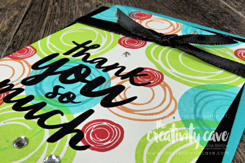 Check out the video for this and several other cards on my blog featuring Stampin Up's Swirly Bird and Itty Bitty Birthday Stamp Sets at www.thecreativitycave.com  #stampinup #thecreativitycave #swirlybird #thankfulthoughts