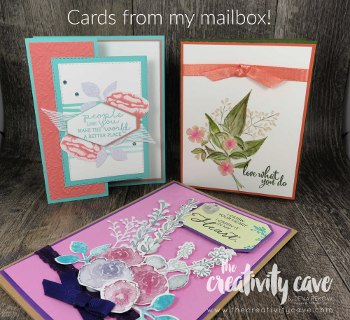 Fabulous cards sent to my mailbox! www.thecreativitycave.com #stampinup #handmdade #happymail