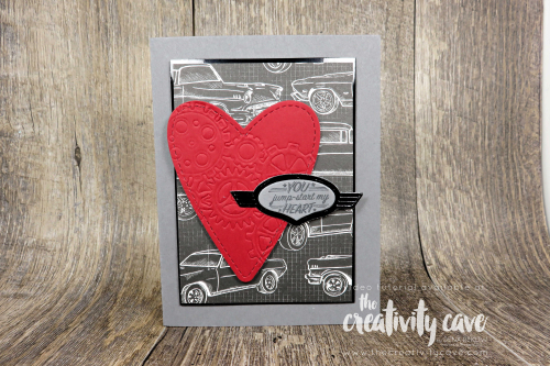 Check out the video and 5 fabulous cards that I created during my Facebook Live! at www.thecreativitycave.com #stampinup #thecreativitycave #bigshot #handmade #gearedupgarage