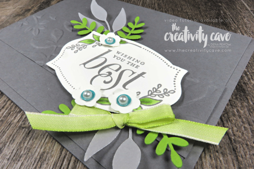 Simple to Stunning Sundays Video Tutorial Series featuring Stampin Up's Floral Frame Stamp set and coordinating Foliage Frame Framelits on my blog at www.thecreativitycave.com #stampinup #thecreativitycave #bigshot #stampinblends #handmadecards #simpletostunningsundays
