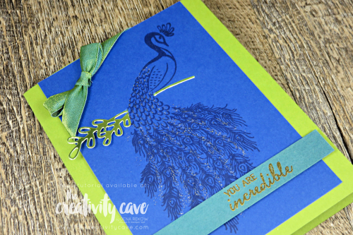 Check out the video tutorial for two stunning cards featuring Stampin Up's Noble Peacock Suite on my blog at www.thecreativitycave.com #stampinup #thecreativitycave #nobelpeacock #noblepeacockspecialtypaper #framelits #create #cardmaking #rubberstamping