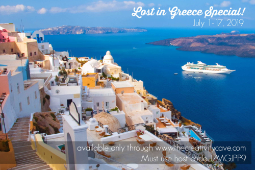 Lost in Greece Special: Shop my online store for some FANTASTIC goodies while I am away in Greece! www.thecreativitycave.com