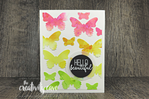 check out the cool video showcasing 2 fun background techniques using Stampin Up's Tasteful Textures Bundle, Butterfly Gala Stamp Set and Pigment Sprinkles on my blog at www.thecreativitycave.com #stampinup #thecreativitycave #butterflygala #pigmentsprinkles #watercolor #tastefultextures