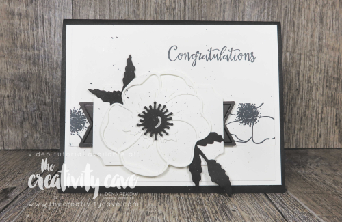 Check out the video tutorial for the gorgeous Black and White with a pop of color cards I created on my blog featuring Stampin Up's Heartfelt Bundle, Peaceful Moments and Painted Poppies Bundles, Thoughtful Blooms Stamp Set, Small Bloom Punch, and the Honey Bee Bundle at www.thecreativitycave.com #stampinup #thecreativitycave #peacefulmoments #paintedpoppies #onlineclasses #youtubelive