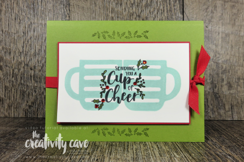Check out the video for this and several other cards featuring Stampin Up's Snowfront Stamp Set, Elfie Stamp Set, Beautiful Friendship Stamp Set and more on my blog at www.thecreativitycave.com #stampinup #thecreativitycave #handmade #greetingcards #create #dies #framelits #wellsaid #snowfront #facebooklive #videotutorial #Beautifulfriendship