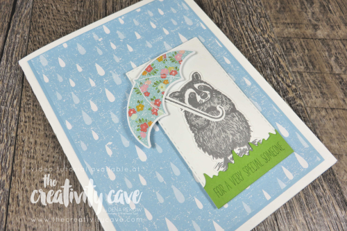 Great Video Tutorial showcasing this ADORABLE card featuring Stampin Up's Special Someone Stamp set and coordinating Special Days Dies and Under My Umbrella Bundle on my blog at www.thecreativitycave.com #stampinup #thecreativitycave #specialdaysdies #specialsomeonestampset #stitchedrectangledies #cardmaking #create #adorable #handmadegreetingcards #rubberstamping #videotutorial