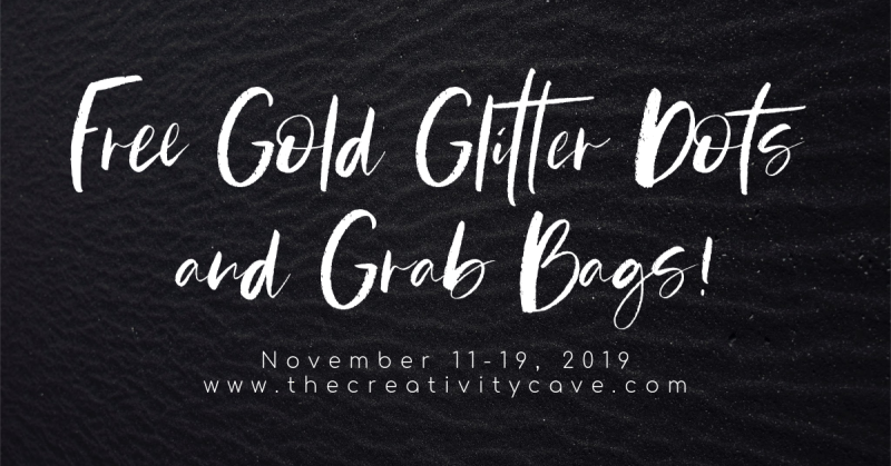 Gold Glitter Dots and Grab Bags!