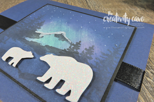 Check out the video tutorial for two cards featuring the Northern Lights Technique and Stampin Up's Snow Front Stamp set along with the Snow Globe Scenes Dies as well as the Free as a Bird Bundle and th Laser Cut Tin of cards on my blog at www.thecreativitycave.com #stampinup #thecreativitycave #lasercuttinofcards #freeasabird #birdballad #printedpaper #northernlightstechnqiue #rubberstamping #framelits #snowfront