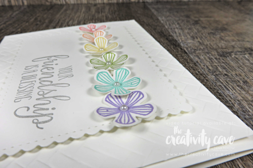 Check out this week's Simple to Stunning Card Video featuring Stampin Up's Thoughtful Blooms Stamp Set and coordinating Small Bloom Punch as well as the So Sentimental Bundle on my blog at www.thecreativitycave.com #thecreativitycave #stampinup #cardmaking #papercrafts #DIY #handmade #sosentimental #thoughtfulblooms #coastalweaveembossingfolder