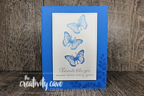 Check out the great Video Tutorial for this week's Simple To Stunning Sunday Video featuring Stampin Up's Positive Thoughts Stamp set and Coordinating Nature's Thoughts Dies on my blog at www.thecreativitycave.com #stampinup #thecreativitycave #handmade #simpletostunningsundays #naturesthoughtsdies #positivethoughts #subtleembossingfolder #handmade #create #framelits #dies