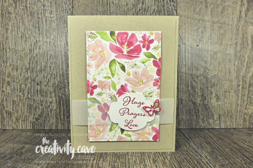 Check out the fabulous video tutorial for making this gorgeous card featuring Stampin Up's Best Dressed Dsp and Positive Thoughts Stamp Set and coordinating Nature's Thoughts Dies on my blog at www.thecreativitycave.com #stampinup #thecreativitycave #handmade #bestdressed #positivethoughts #naturesthoughtsdies #scrapbookpaper