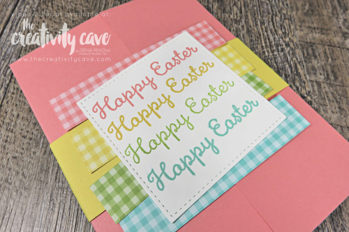 Check out my Shutterfold Card Tutorial on my blog at www.thecreativitycave.com featuring Stampin Up's Welcome Easter Stamp set on my blog at www.thecreativitycave.com #stampinup #thecreativitycave #welcomeeasterstampest #welcomeeaster #handmade #shuttercard #shutterfold #printedpaper #scrapbookpaper