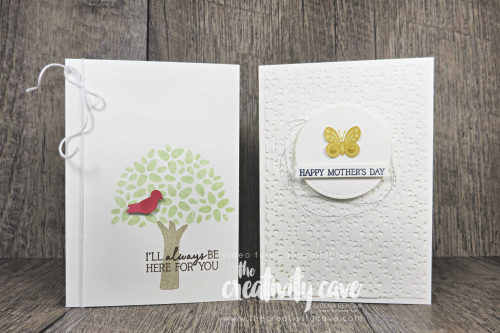 Check out the video for two adorable alternative projects for April's My Wonderful Family Paper Pumpkin Kit on my blog at www.thecreativitycave.com #stampinup #paperpumpkin #stitchedlacedie #create #subscriptionbox