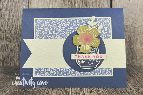 Great video with lots of tips and tricks shared featuring Stampin Up's Boho Indigo Product Medley on my blog at www.thecreativitycave.com #stampinup #thecreativitycave #bohoindigoproductmedley #facebookclass #stamping #cardmaking