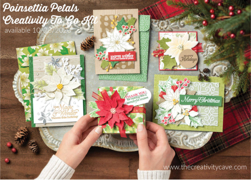 Poinsettia Petals to go kit