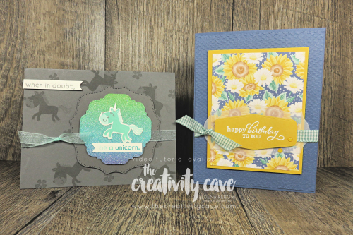 Check out the video tutorial filled with some awesome tips and tricks for creating two cards featuring our NEW catalog Hippo Happiness bundle and the Best Year Stamp Set with the Tasteful Labels Dies on my blog at www.thecreativitycave.com #stampinup #thecreativitycave #tastefullabelsdies #flowersforeveryseason #hippohappiness