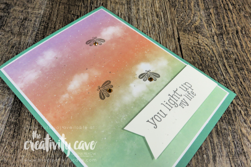 Check out the video for these super simple, but super cute cards featuring Stampin Up's Summer Nights Paper Pumpkin Kit on my blog at www.thecreativitycave.com #stampinup #thecreativitycave #paperpumpkin #summernights #handmade #craft #diy #subscriptionbox