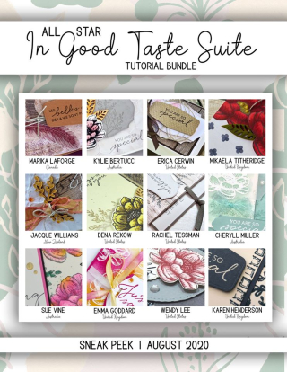 The Tasteful Touches All Star Tutorial Bundle is available for purchase from my blog (or free with a qualifying order from my online store) at www.thecreativitycave.com #stampinup #tastefultouches #ingoodtaste #handmade #DIY #videotutorial