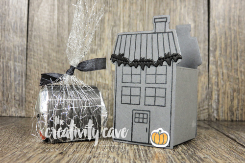 Check out the video tutorial for this adorable Hershey's Nugget Treat Holder Created with Stampin Up's, Coming Home Bundle and Fireside Trimmings Bundle on my blog at www.thecreativitycave.com #stampinup #thecreativitycave #firesidetrimmings #cominghomebundle #hersheystreatnuggets #handmade #cute #treatholder