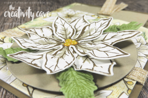 Check out the video tutorial featuring this gorgeous card using Stampin Up's Poinsettia Petals Bundle in a zig-zag pocket card on my blog at www.thecreativitycave.com #stampinup #thecreativitycave #poinsettiapetals #poinsettiaplace #christmas #funfold #thespotcardchallenge #create #handmade #cardmaking