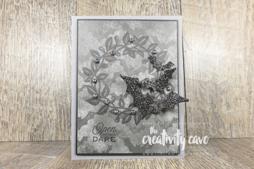 Check out the video tutorial for this spooky card featuring Stampin Up's Arrange A Wreath Bundle and Magic in the Night Suite on my blog at www.thecreativitycave.com And don't forget to register for my awesome Arrange A Wreath Online class here: http://events.constantcontact.com/register/event?llr=gr8zpc9ab&oeidk=a07ehbe47h2246e493d #stampinup #thecreativitycave #cardmaking #handmade #Halloween #arrangeawreath