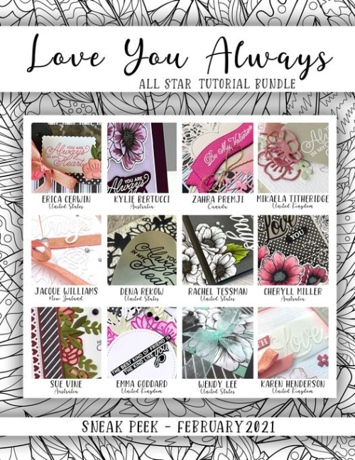 Grab Your 12 video tutorial All Star Tutorial Bundle PDF from my blog for just $15 featuring Stampin Up's Love You Always Suite from my blog at www.thecreativitycave.com #stampinup #thecreativitycave #allstartutorialbundle #playingwithpatterns