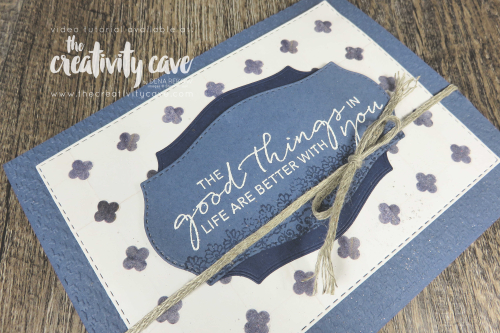 Check out the video tutorial with lots of tips and tricks for creating this gorgeous card featuring Stampin Up's Tasteful Touches Bundle and In Good Taste DSP on my blog at www.thecreativitycave.com #stampinup #thecreativitycave #handmade #tastefultouches #ingoodtastedsp #videotutorial