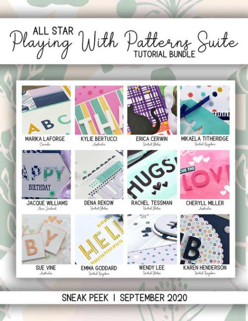 Grab Your 12 video tutorial All Star Tutorial Bundle PDF from my blog for just $15 featuring Stampin Up's Playing with Patterns Suite from my blog at www.thecreativitycave.com #stampinup #thecreativitycave #allstartutorialbundle #playingwithpatterns