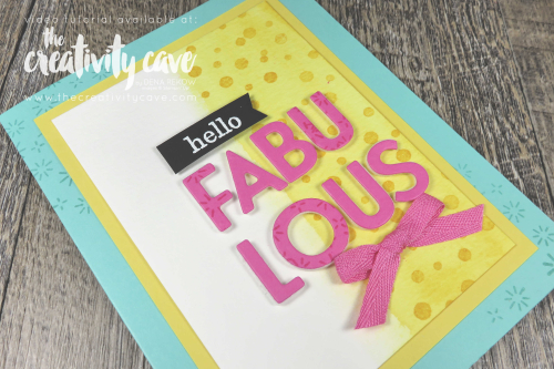 Check out the video tutorial (filled with tips and tricks) for creating this fun, happy card featuring Stampin Up's Playing with Patterns Suite of products on my blog at www.thecreativitycave.com and grab the All Star Tutorial Bundle while you are there with 12 video tutorials for just $15 #stampinup #allstartutorialbundle #thecreativitycave #watercolor #cardmaking #diy #patternplay #playfulalphabetdies