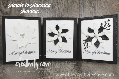 Check out the Simple to Stunning Sundays Video for this and two more versions on my blog at www.thecreativitycave.com Don't forget to sign up for my Poinsettia Petals Creativity To Go Kit Online Class here:http://events.constantcontact.com/register/event?llr=gr8zpc9ab&oeidk=a07ehco9wfz3698d061 #stampinup #cardmaking #papercrafts, DIY, #poinsettiapetals #Christmascards #pretty